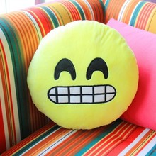 NEW Soft Emoji Smiley Emoticon Cuscino Rotondo Cuscino Peluche Ripiene Toy Doll