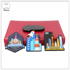 Custom Wholesale Price 3D Embossed Soft PVC Fridge Magnet