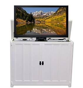 Touchstone 72013 Elevate Mission TV Lift Cabinet For TVs Up To 50 inches, Whisper Lift (White)