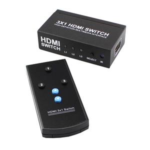 High quality 3x1 hdmi switch switcher selector with remote control 1080P