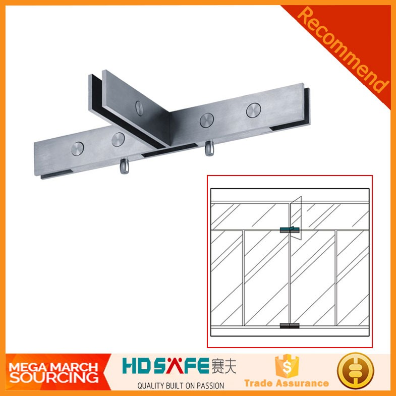 China professional stainless steel coverless double top glass swing door pivot pin