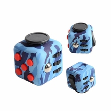 New Arrival Blue Camouflage Fidget Cube Anti Stress Cube for Children & Adults Desk Toy