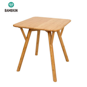 BAMBKIN bamboo living furniture square tea end coffee table side table for living room