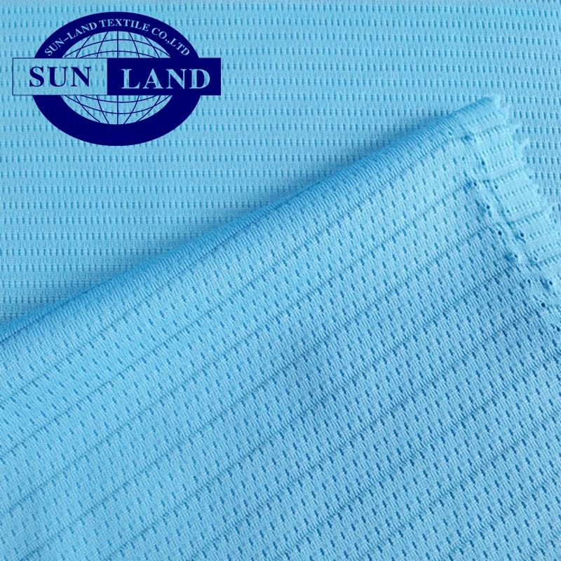 100% polyester antibacterial dry fit fabric in single jersey mesh