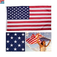 High quality Custom print American flag Stock Cheap polyester USA flag