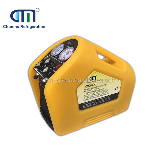 eco friendly r134a gas refrigerant recovery filling unit for household a/c service CM2000A