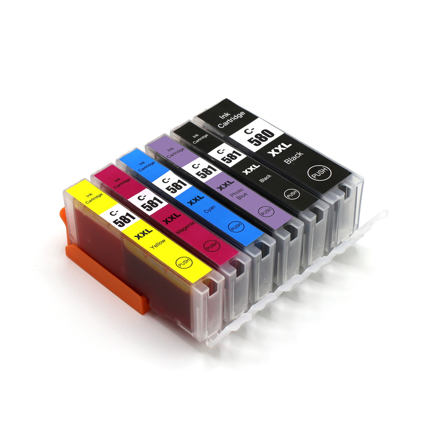 2018 New arrival! refill pgi580 cli581 compatible ink cartridge with auto reset chip