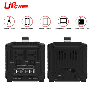 Portable Generator Power Inverter Battery 120000mAh 500W Camping CPAP Emergency Home Use UPS Power Source for travel