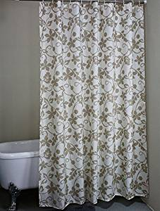 Get Quotations · Ivy Leaves Waterproof Fabric Stall Shower Curtain 36 X 72  Inches   Grey/Gray White