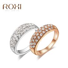 Moderní dámský prstýnek ROXI s kamínky z Aliexpress
