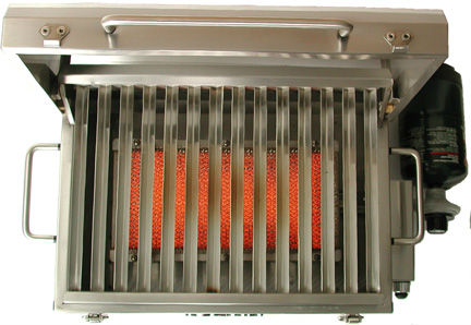 Outdoor portable infrared catalytic gas heater for BBQ HD400