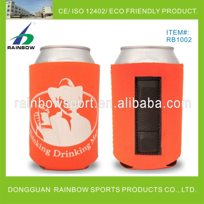 Neoprene magnetic can cooler with printing with buyer's artwork