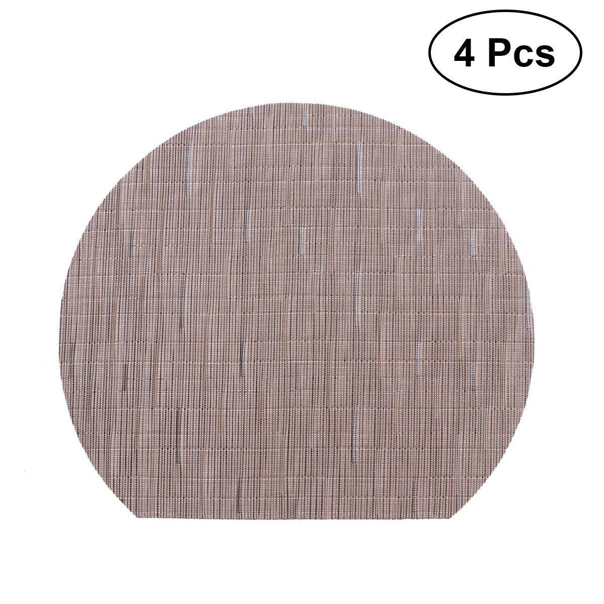 Get Quotations Bestonzon 4pcs Table Place Mats Heat Resistant Non Slip Tableware Coasters Pads