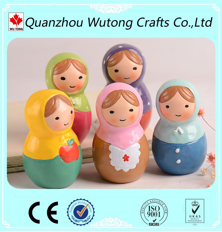 home decoration resin cute dolls for sale