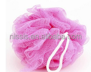 Mesh Pouf Bath Sponge Bathing Type Ribbon Mesh Bath Scrub