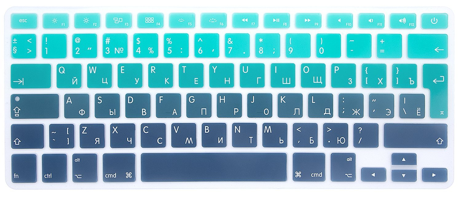 4dd4be47b66 Get Quotations · HRH Russian Silicone Keyboard Cover Skin for MacBook Air  13