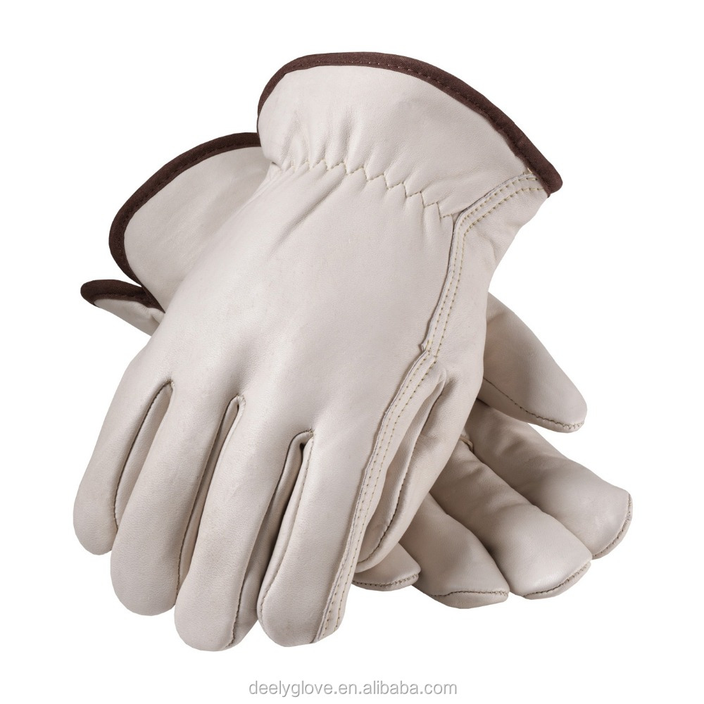 NS Hand Protection Economy Grade Pigskin Grain Leather Driver/'s Gloves Pair