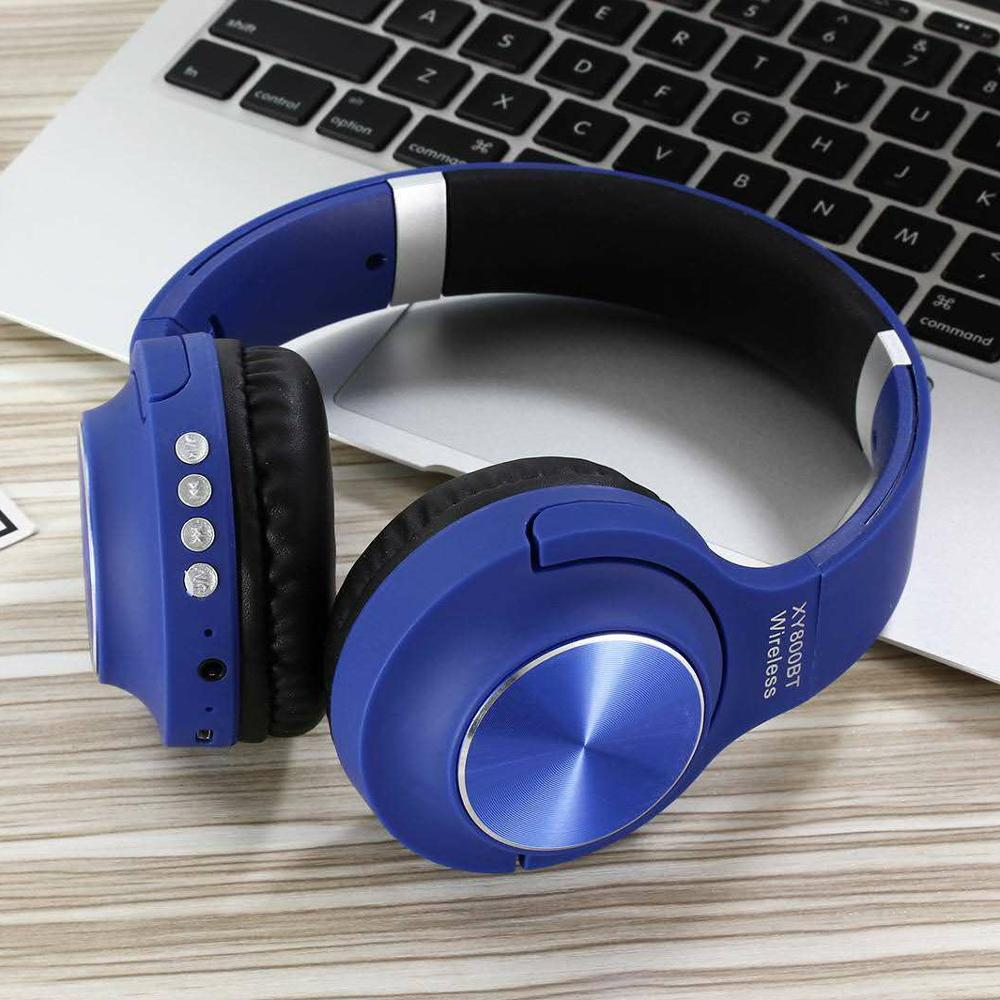 Adjustable wireless headphone super bass stereo earphones foldable headset with Mic фото