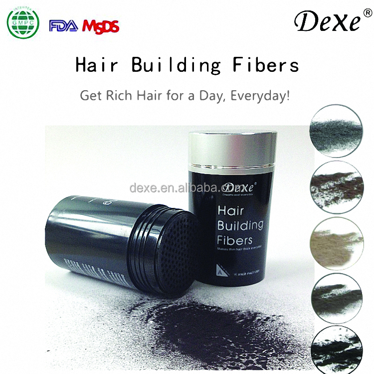 dexe 2016 fiber optic fibers for baldness instant hair thickening fibers