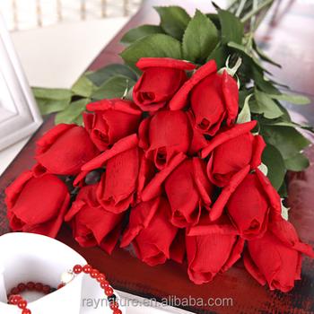 Rose bud silk flower stem tianjin artificial flower factory buy rose bud silk flower stem tianjin artificial flower factory mightylinksfo