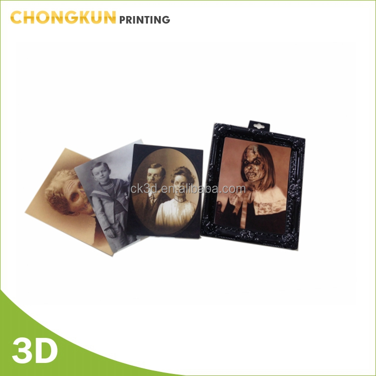 Halloween Lenticular 3D Changing Face Horror Portrait Haunted Spooky Weird Girl halloween decoration gifts
