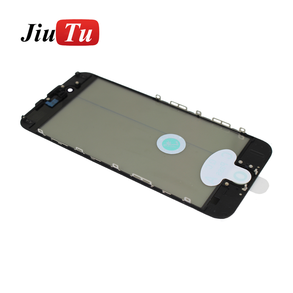 Alibaba.com / LCD Front Screen Glass+Bezel Frame+OCA+Polarize Film Cold Press For iPhone 7G 4.7inch with Oleophobic Coating Waterproof