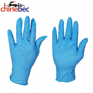 Cheap Blue Disposable Powder Free Nitrile Working Gloves Malaysia Factory