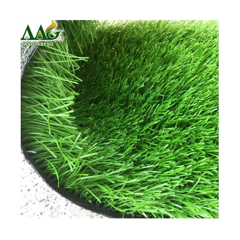 China Aojian Artificial Grass Futsal Turf in Guangzhou Factory, Dark green & light green