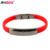 Wholesale Custom Cheap New fashion plain silicone metal cuff bracelet wristband