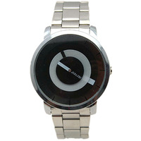 silver watches lady Special turntable black&white dial luxury silver alloy band quartz clock paidu casual wrist watch