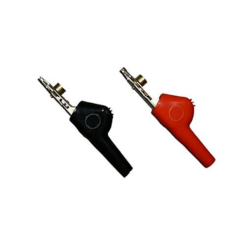 TestHelper TP330 Alligator Clip Bed of Nail and Single Spike Angled Nose Large Test Probe 1 Pair Red/Black