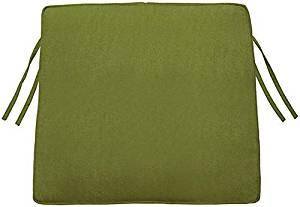 "Box edge Trapezoid Outdoor Chair Cushion, 3""Hx20.5""Wx18""D, CILANTRO SUNBRELLA"