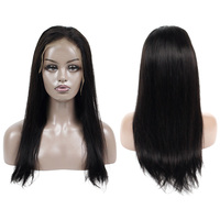 Pre plucked human hair lace front wigs100% virgin unprocessed cuticle aligned hair