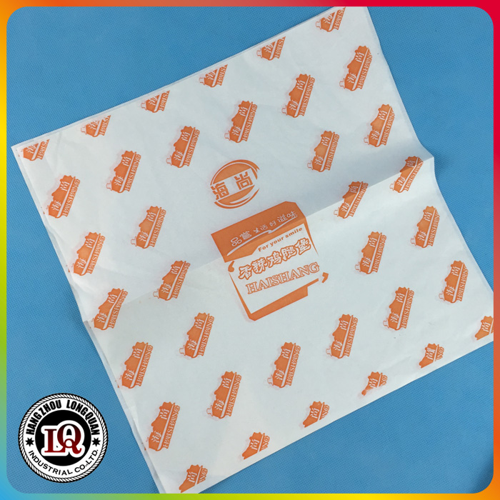 Food Grade Greaseproof Wrapping Hamburger Paper Wholesale