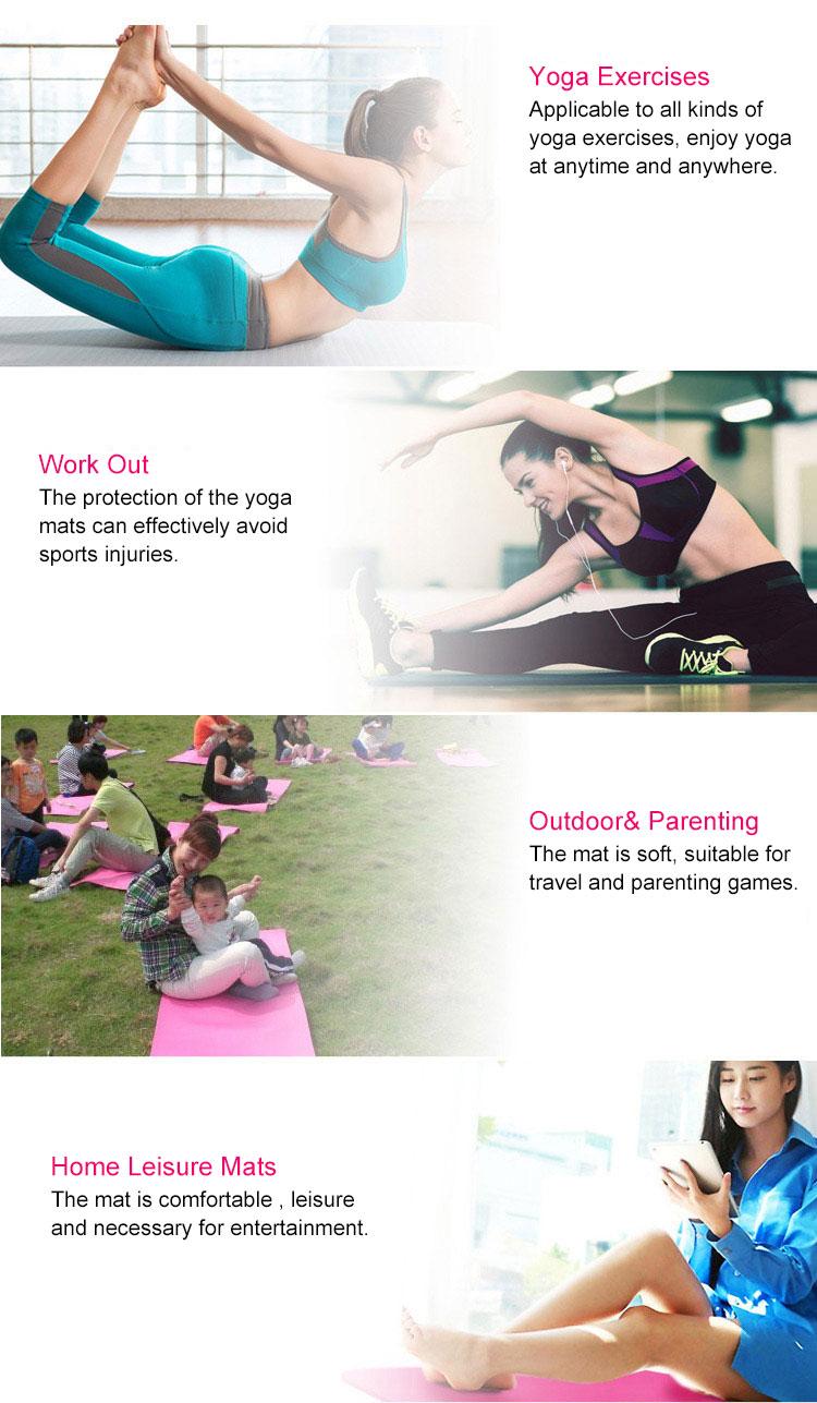 Anti-Déchirure Gym Fitness Minuscule 4 k Petite Ado Tapis de Yoga pour L'entraînement Pilates Camping