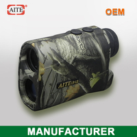 Aite Brnad 6*24 400Meters(Yard) camo laser range finder with speed measure function leather tannery