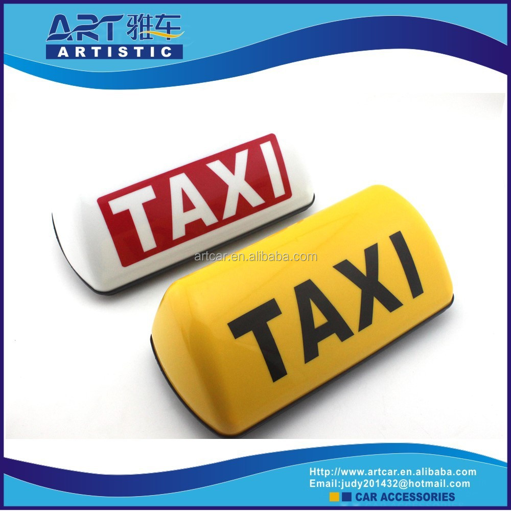 led taxi lamp top advertising roof signs