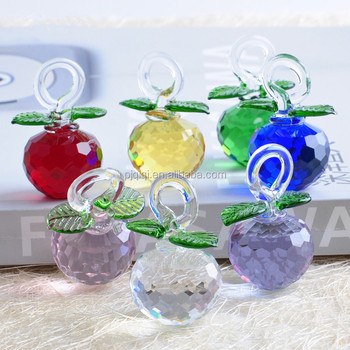 Crystal Christmas Ornaments.Colorful Crystal Glass Apple For Christmas Ornaments And Wedding Gift Buy Crystal Christmas Decorations Crystal Apple Glass Apple Product On