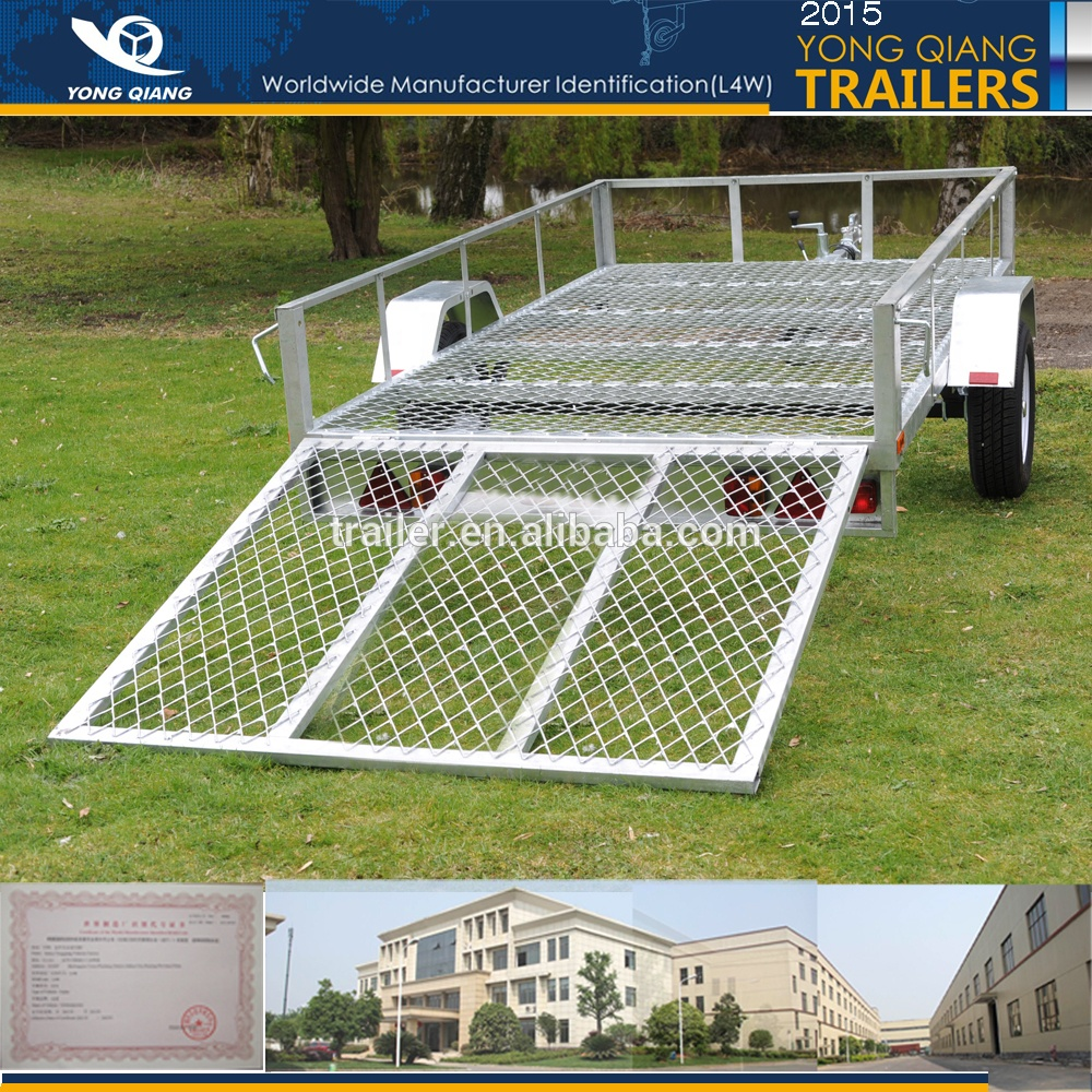 8x5  10x5 hot dipped galvanised  small car  trailer