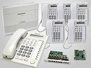 Panasonic KX-TA824 System + KX-TA82483 Expansion Card + KX-TA82493 Caller ID + 6 New Panasonic KX-T7730 White Phones