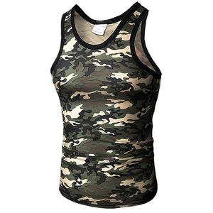 Wholesale Mens Fitness Camouflage Singlet Tank Top Men Sports Gym Vest