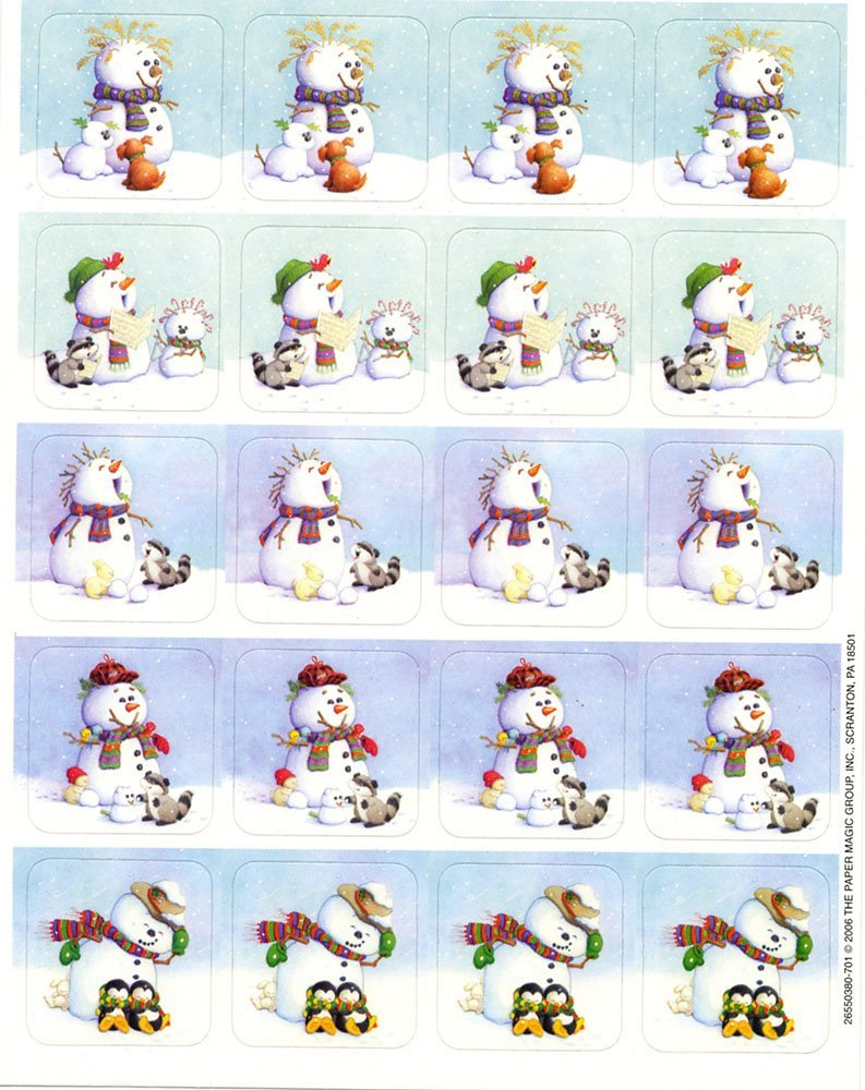 "240 Winter SNOWMAN Stickers - CHRISTMAS Holiday 1"" - Teacher Motivational Rewards EDUCATION Classroom Party Favors"
