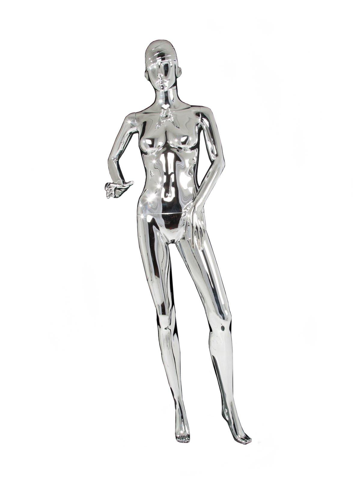 Female Runner Running Sporty Athletic Mannequin MZ-pb1 Athlete silver