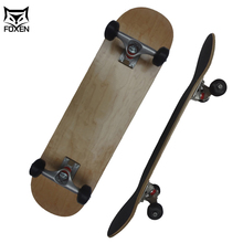 OEM Custom Drop Down Bamboo Carbon Fiber Skateboard