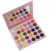 30 color baby pink cardboard eye shadow private label eyeshadow palette