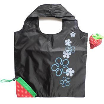 light weight fold into strawberry shape soft  190t/ 210tt polyester folding shopping bags