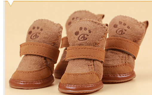 Cheap comfortable dog shoes sheep velvet snow boots Teddy dog shoes for autumn and winter pet products