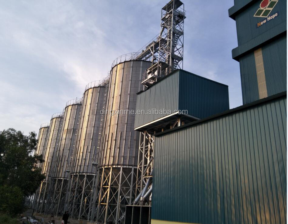 Full Automatic Hot Galvanized Steel Silo Plant for Paddy