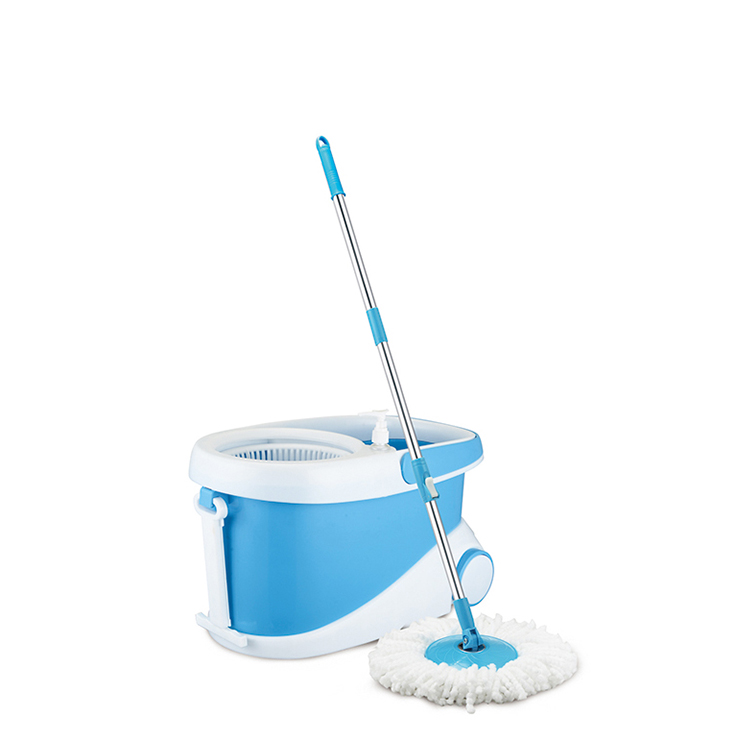 Competitive price plastic 360 magic mop with two big wheels sporting design spin mop