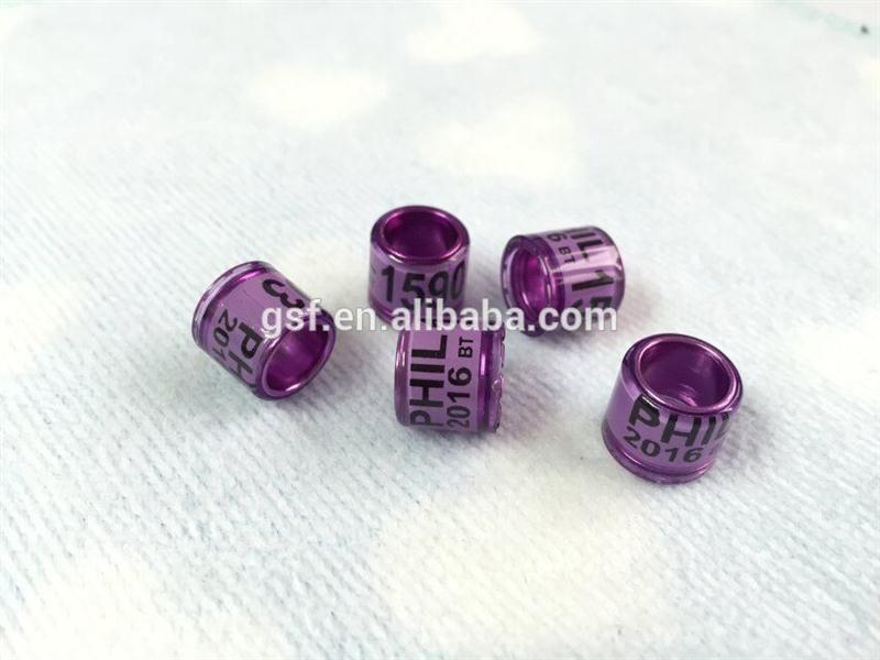 Anillos de color negro con letra blanca en los anillos transformador núcleo de aluminio hecho en China-Otros Productos para mascotas-Identificación ...